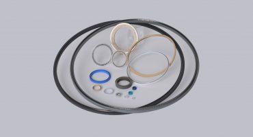 Federunterstutzter Nutringe radial wirkend oder als Axialdichtung bzw. Alternative zu EFN, URS, URI, URA, URS, CRS, Gaspring